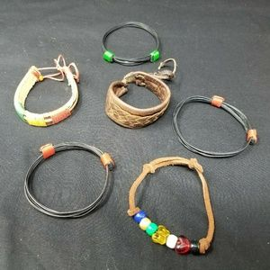 Lot of 6 bracelets boho hippy style